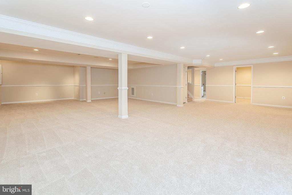 Large Recreation Room in Basement - 25425 BRADSHAW DR, CHANTILLY