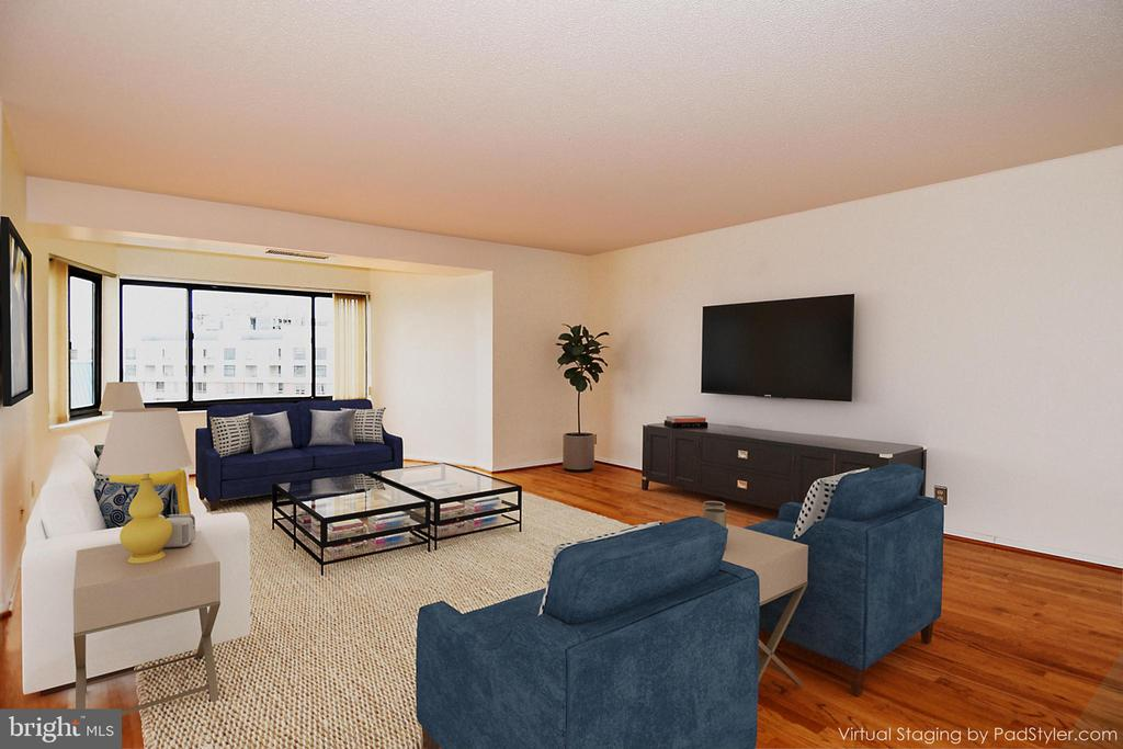 Living Room Staged - 900 N STAFFORD ST #2328, ARLINGTON