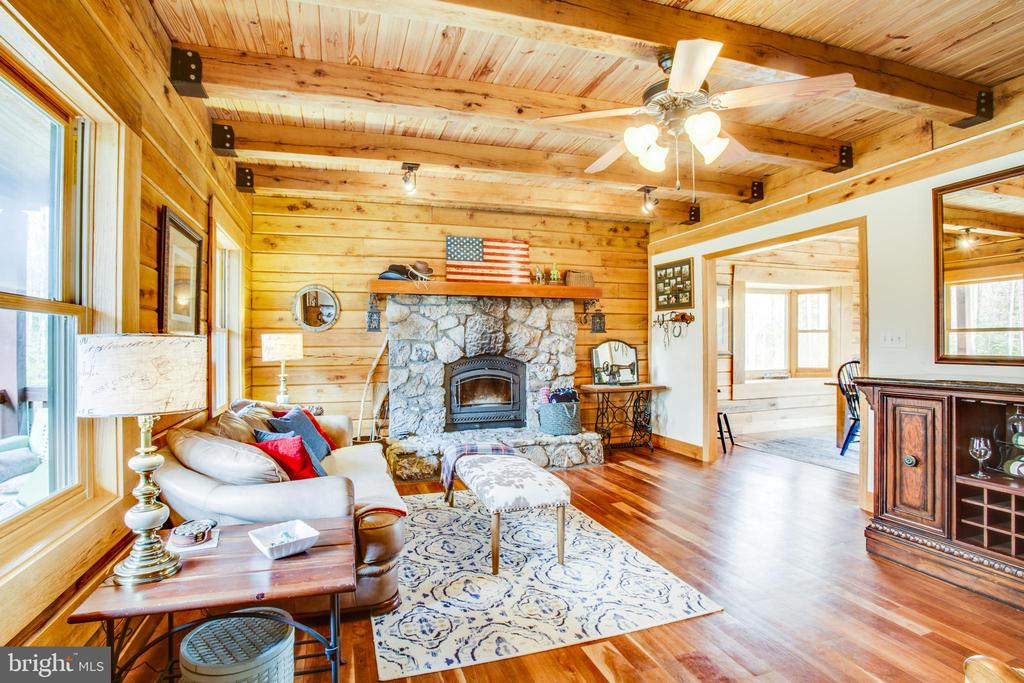 Family Room for enjoying the fireplace - 10910 ASTARITA AVE, PARTLOW