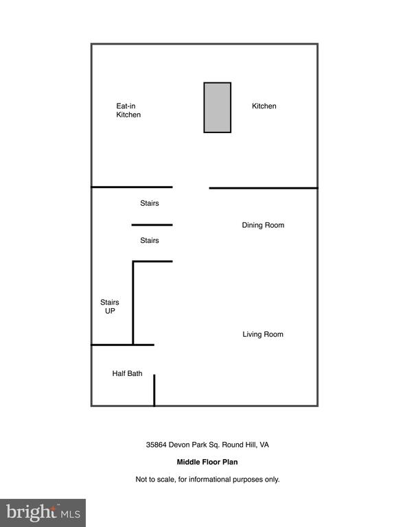 Middle/Main Level Floor Plan - 35864 DEVON PARK SQ, ROUND HILL