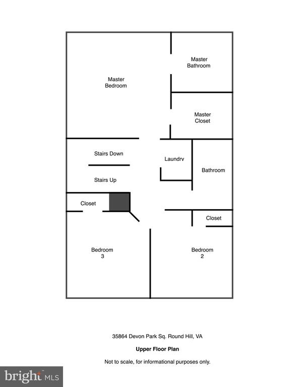Upper Level Floor Plan - 35864 DEVON PARK SQ, ROUND HILL