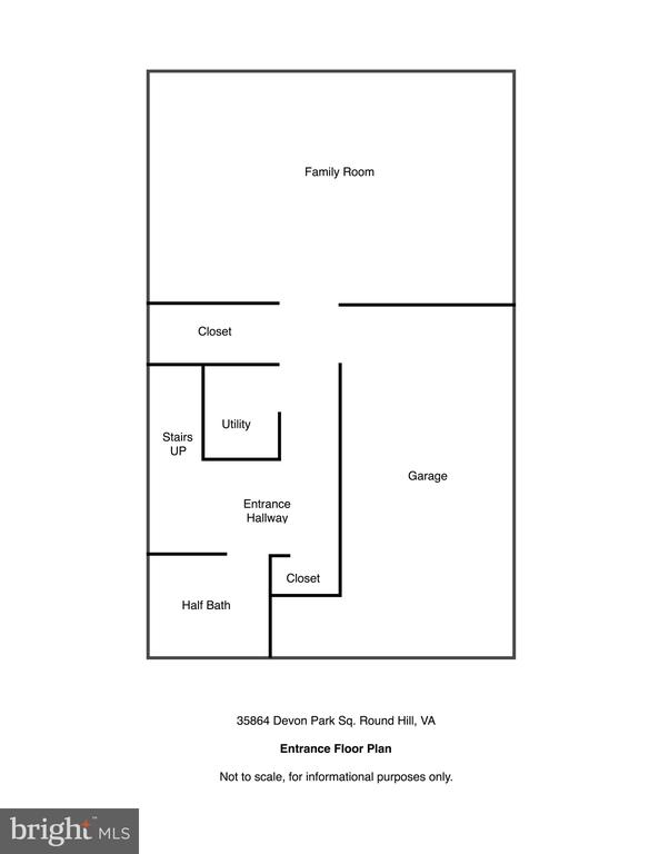 Entrance/Lower Level Floor Plan - 35864 DEVON PARK SQ, ROUND HILL