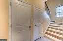 Back stairs to upper level - 31 LIBERTY KNOLLS DR, STAFFORD