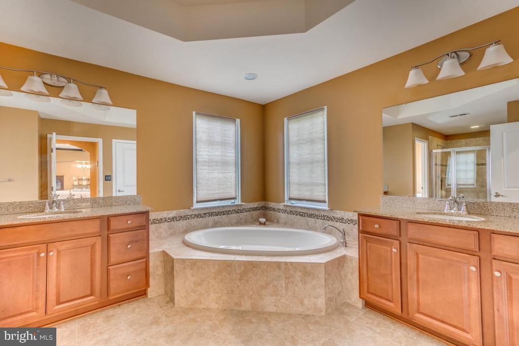 Deluxe Master Bath with dual vanities - 31 LIBERTY KNOLLS DR, STAFFORD