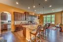 Gourmet kitchen with center island - 31 LIBERTY KNOLLS DR, STAFFORD
