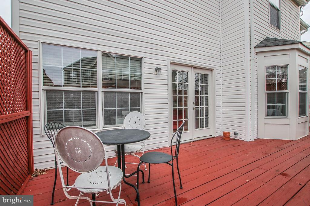 French doors leading to large deck - 47745 ALLEGHENY CIR, STERLING