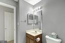 Hall bath - 1001 MONTGOMERY ST, LAUREL