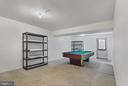 Open family room, basement exit - 1001 MONTGOMERY ST, LAUREL