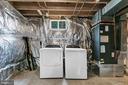 Laundry area, utility closet, Newer heat pump - 1001 MONTGOMERY ST, LAUREL