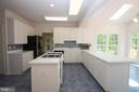 Kitchen w/ Gorgeous Tile Floor & Custom Backsplash - 1 KIMBERLY DR, STAFFORD
