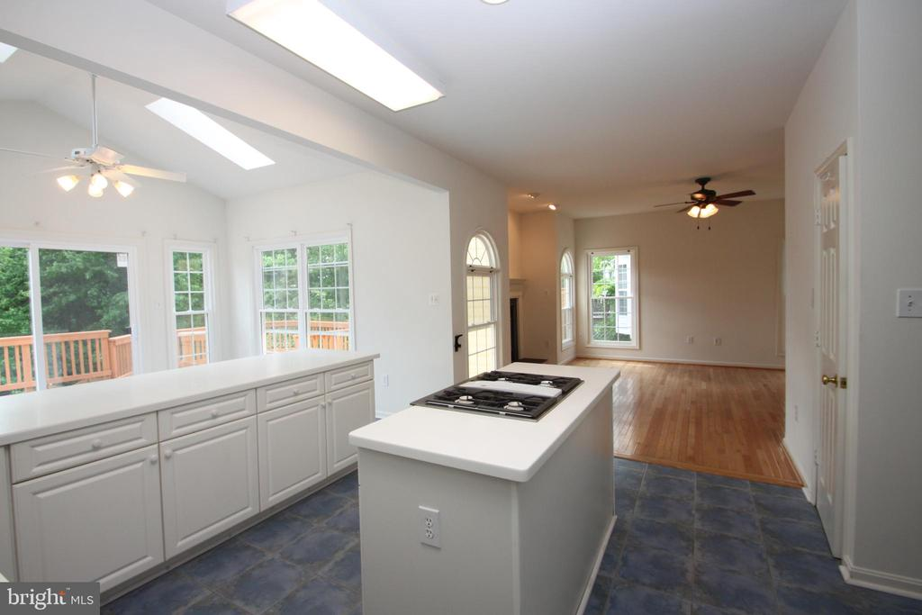 Kitchen Island from Dining Room - 1 KIMBERLY DR, STAFFORD
