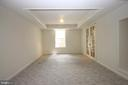 Den with Custom Tray Ceiling & Surround Sound - 1 KIMBERLY DR, STAFFORD