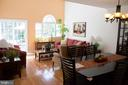 Living room with custom Palladium window - 14069 SADDLEVIEW DR NW, NORTH POTOMAC
