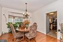 Spacious formal dining room with bump out window - 1808 GREYSENS FERRY CT, POINT OF ROCKS