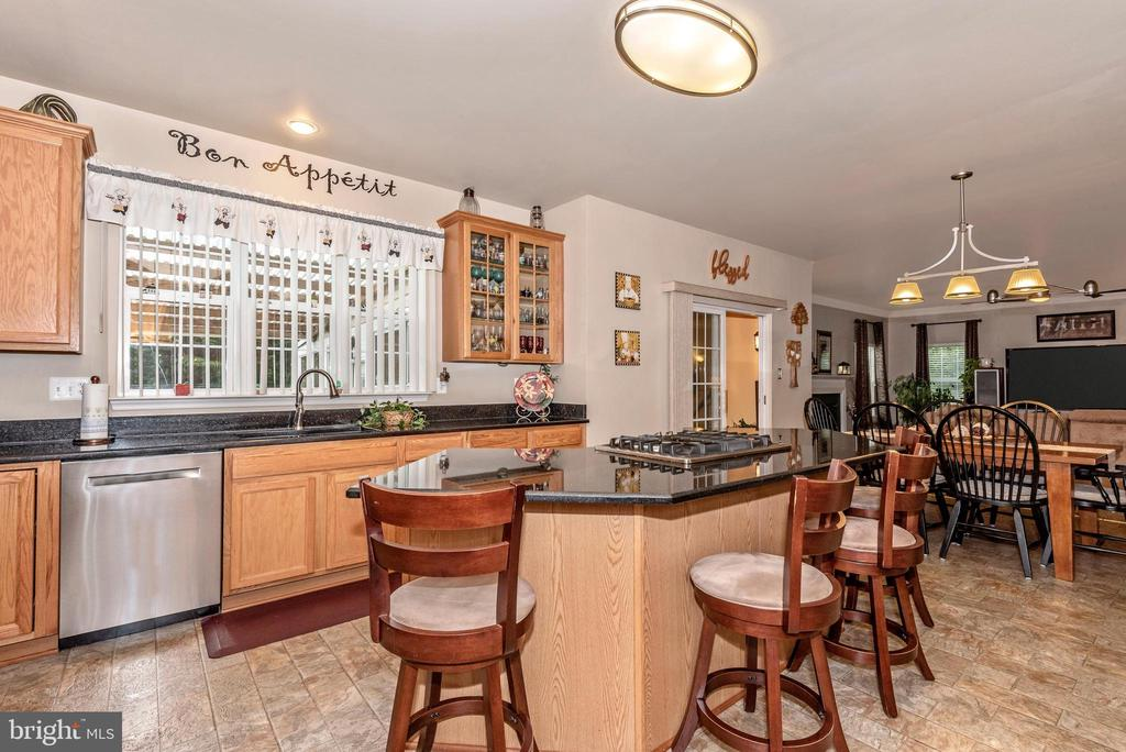 Newer stainless appliances, breakfast bar - 1808 GREYSENS FERRY CT, POINT OF ROCKS