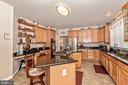 Cabinets galore in the gourmet kitchen - 1808 GREYSENS FERRY CT, POINT OF ROCKS