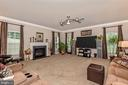 Newer carpet, cozy remote gas FP,  family room - 1808 GREYSENS FERRY CT, POINT OF ROCKS