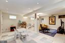 Generous Recreation Room with Murphy Bed - 4810 ESSEX AVE, CHEVY CHASE