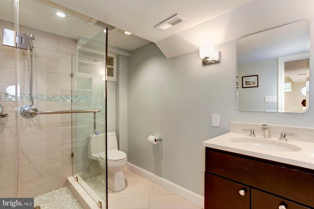 Lower Level Full Bathroom - 4810 ESSEX AVE, CHEVY CHASE