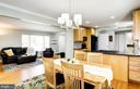 Dining to living room and kitchen - 3103 CREST AVE, CHEVERLY