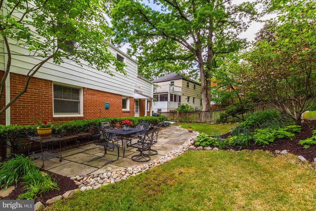 Patio in backyard - 3103 CREST AVE, CHEVERLY
