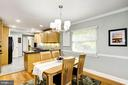 Dining opens to kitchen - 3103 CREST AVE, CHEVERLY
