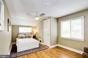 Bedroom #1 with two closets - 3103 CREST AVE, CHEVERLY
