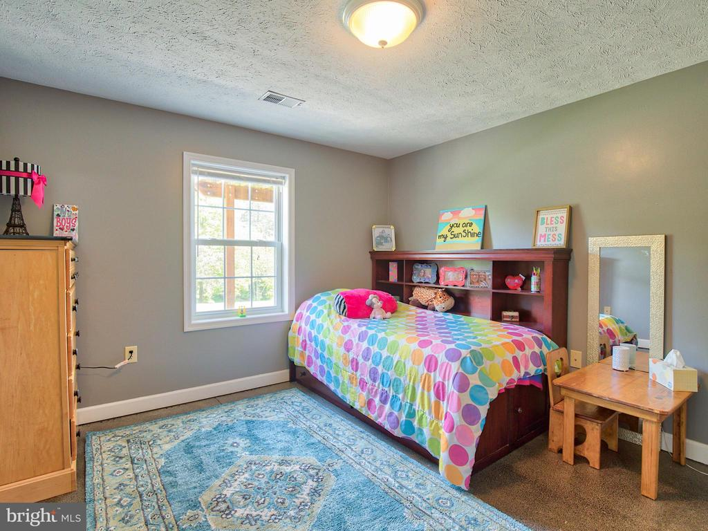 Bedroom in the basement ~ tall ceilings - 87 LONESOME FLATS RD, FRONT ROYAL