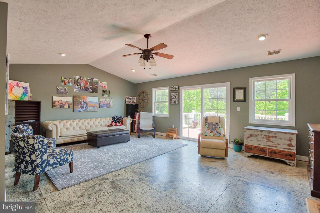 Living/Family Room on Main w/access to the deck ~ - 87 LONESOME FLATS RD, FRONT ROYAL