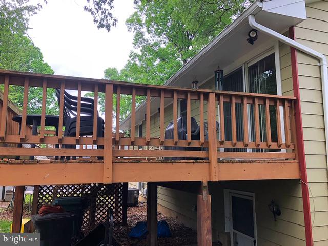 rear deck - 5508 ELDER ST, FREDERICKSBURG