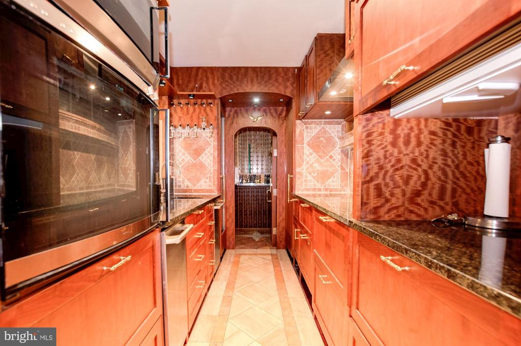 Italian Entertaining Room Bar with Wine Cellar - 4409 WALSH ST, CHEVY CHASE