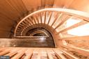 Scandinavian Wood Spiral Staircase - 4409 WALSH ST, CHEVY CHASE