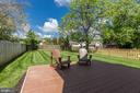 Large backyard with trex-like decking - 109 WILSON AVE NW, LEESBURG