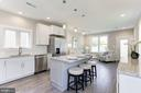 Eat in kitchen with breakfast bar - 109 WILSON AVE NW, LEESBURG