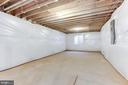 Large basement with egress window and w/d - 109 WILSON AVE NW, LEESBURG