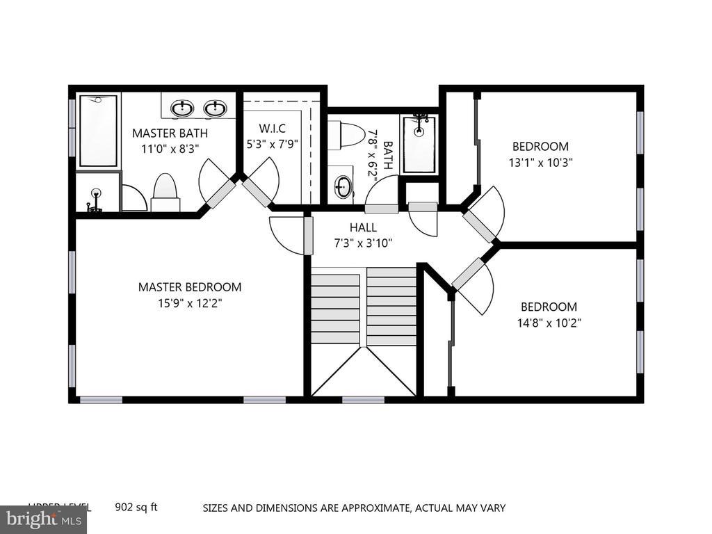 Bedroom Level Plan - 47831 SCOTSBOROUGH SQ, STERLING