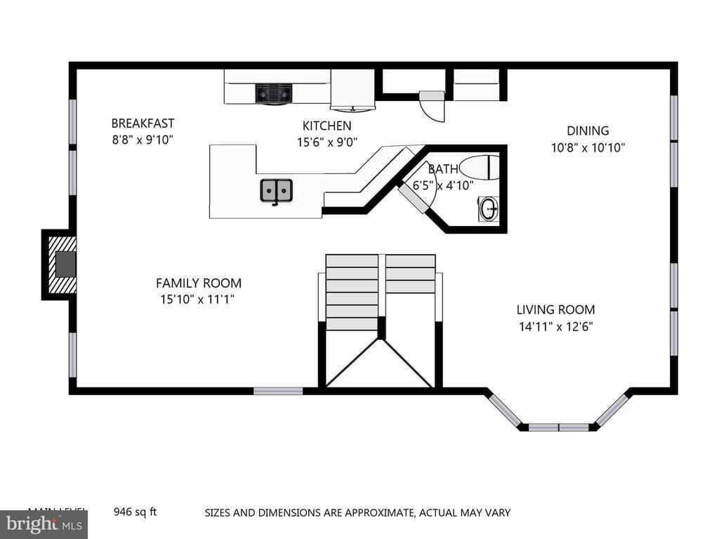Main Living Space Floor Plan - 47831 SCOTSBOROUGH SQ, STERLING