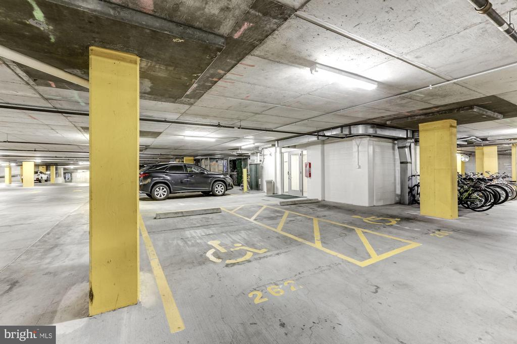 Parking space close to elevator door - 11800 SUNSET HILLS RD #126, RESTON
