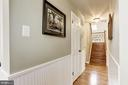 Main Level Hall w/Wainscotting - 7814 MORNING GLEN LN, ALEXANDRIA
