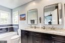 Remodeled Master Bath w/Double Vanity &~ Tub - 7814 MORNING GLEN LN, ALEXANDRIA