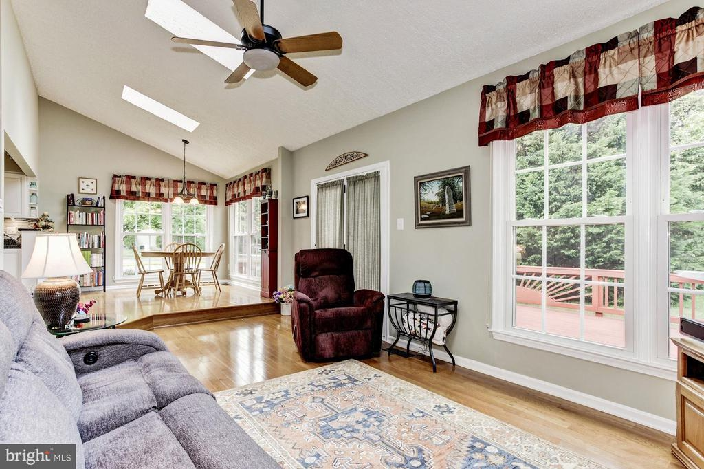 Ceiling Fan & Skylights in Family Room - 7814 MORNING GLEN LN, ALEXANDRIA