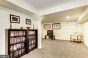 L-Shaped Rec Room - 7814 MORNING GLEN LN, ALEXANDRIA