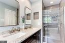 Remodeled Vanity & Walk-in Shower - 7814 MORNING GLEN LN, ALEXANDRIA