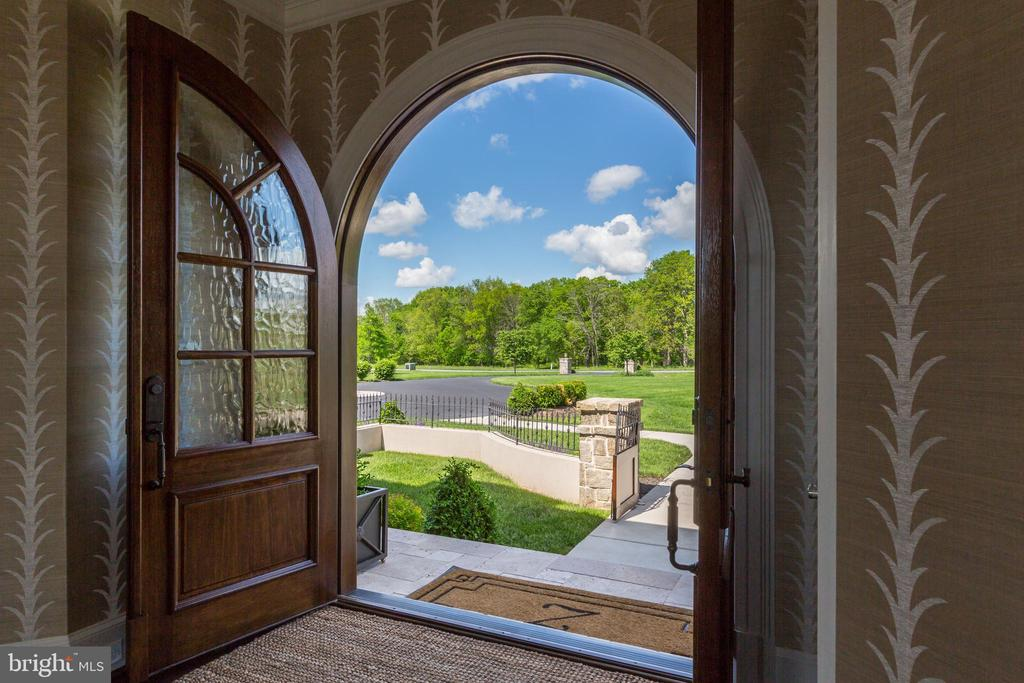 View from front doors - 22883 CREIGHTON FARMS DR, LEESBURG