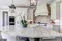 Taj Mahal quartz countertops - 22883 CREIGHTON FARMS DR, LEESBURG