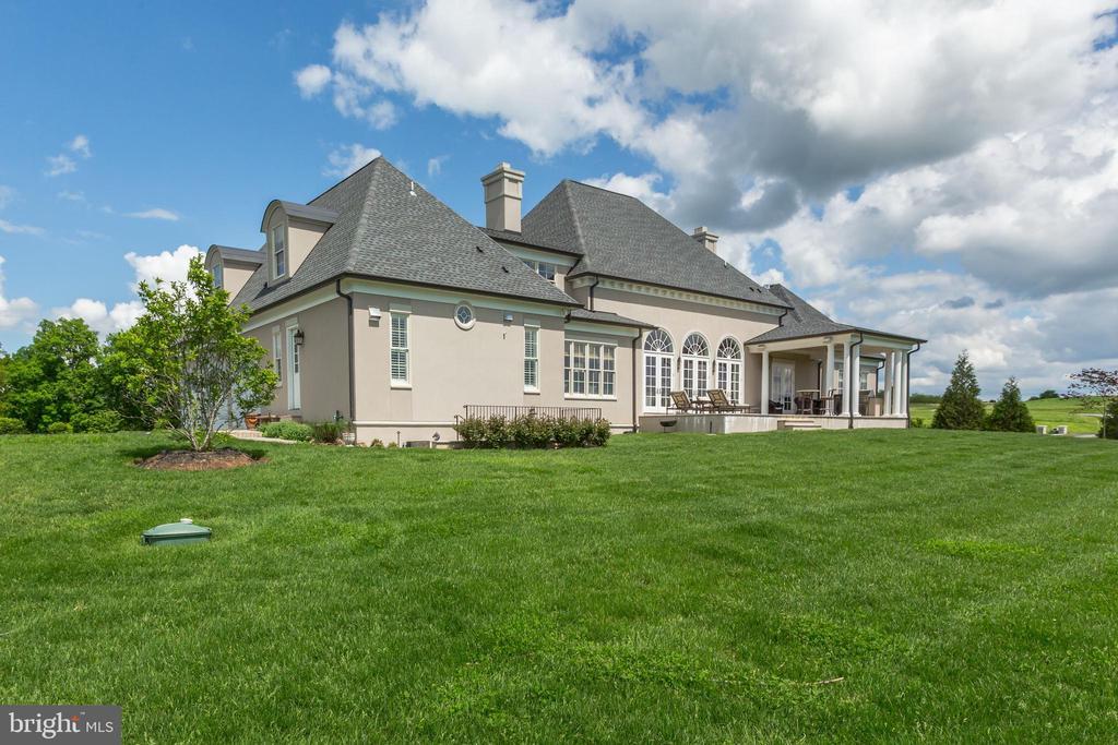 Rear of house - 22883 CREIGHTON FARMS DR, LEESBURG