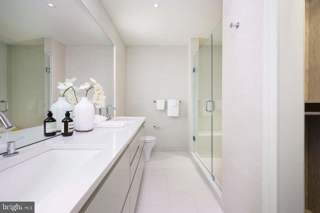 Floor-to-Ceiling Porcelanosa Bathroom Tile - 810 O ST NW #409, WASHINGTON