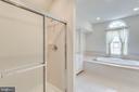 Separate master shower - 3813 NALLS RD, ALEXANDRIA