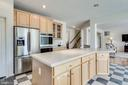 Light filled, gourmet kitchen with huge island - 3813 NALLS RD, ALEXANDRIA