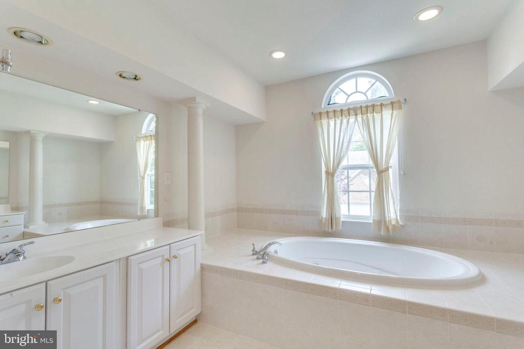 Mstr bathtub flanked by separate vanities - 3813 NALLS RD, ALEXANDRIA
